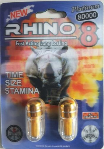 RHINO 8 8000 PLATINUM 5 CARDS 10 PILLS